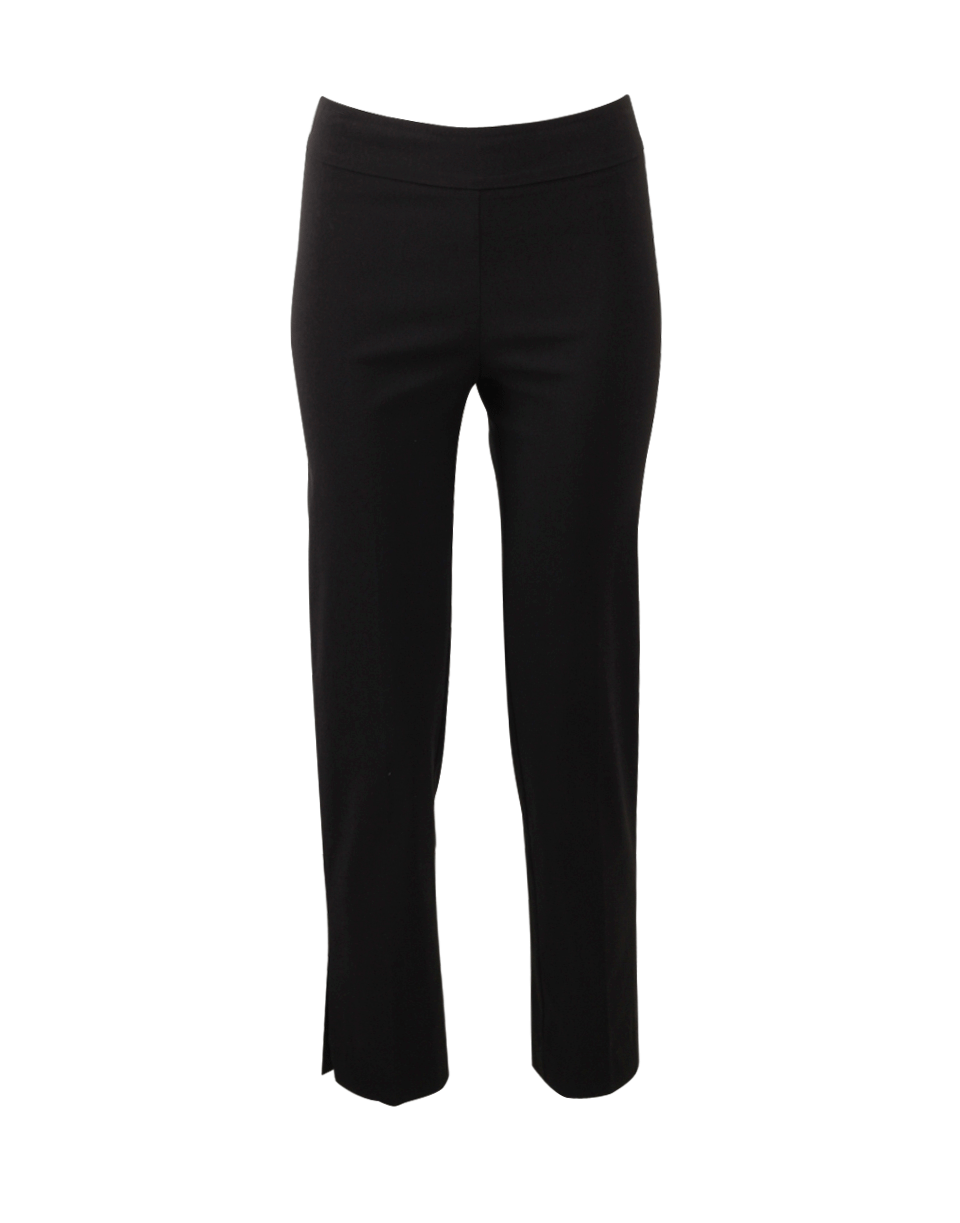 Avenue Montaigne Venezia Pull-On Ankle Slit Pant In Black