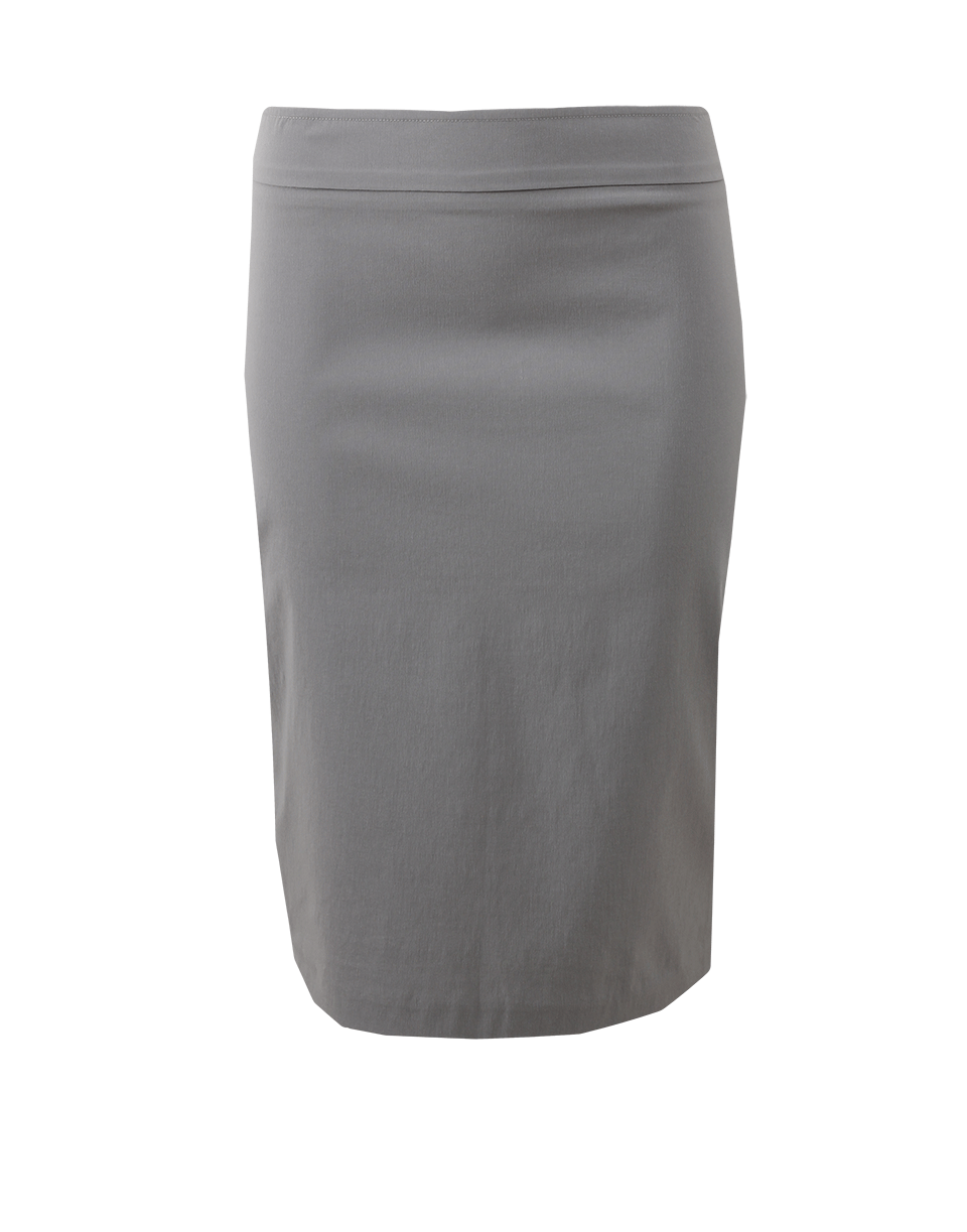 Avenue Montaigne Pull-On Stretch Pencil Skirt In Lt-Grey