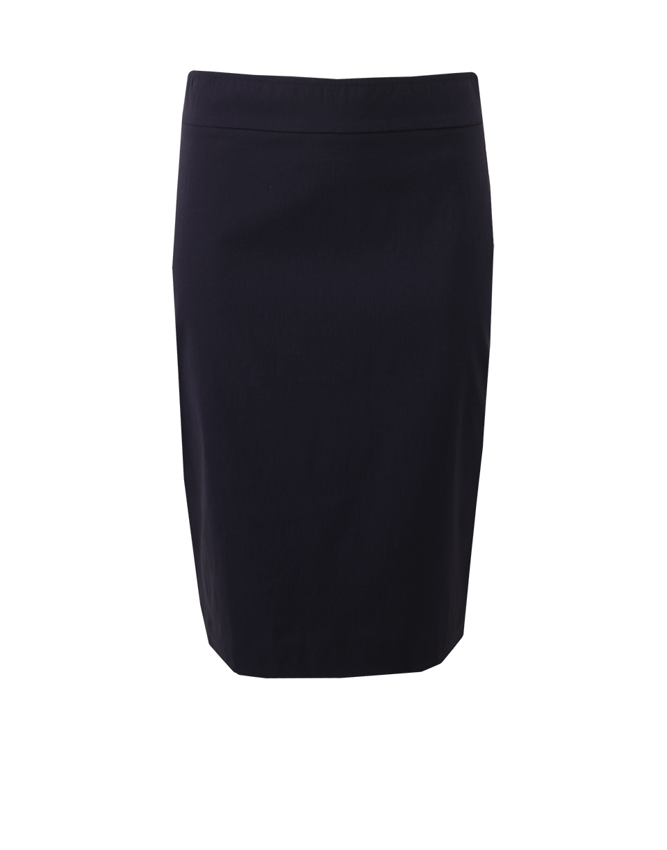 Avenue Montaigne Pull-On Stretch Pencil Skirt In Navy