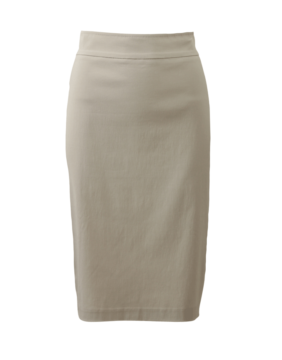 Avenue Montaigne Pull-On Stretch Pencil Skirt In Beige