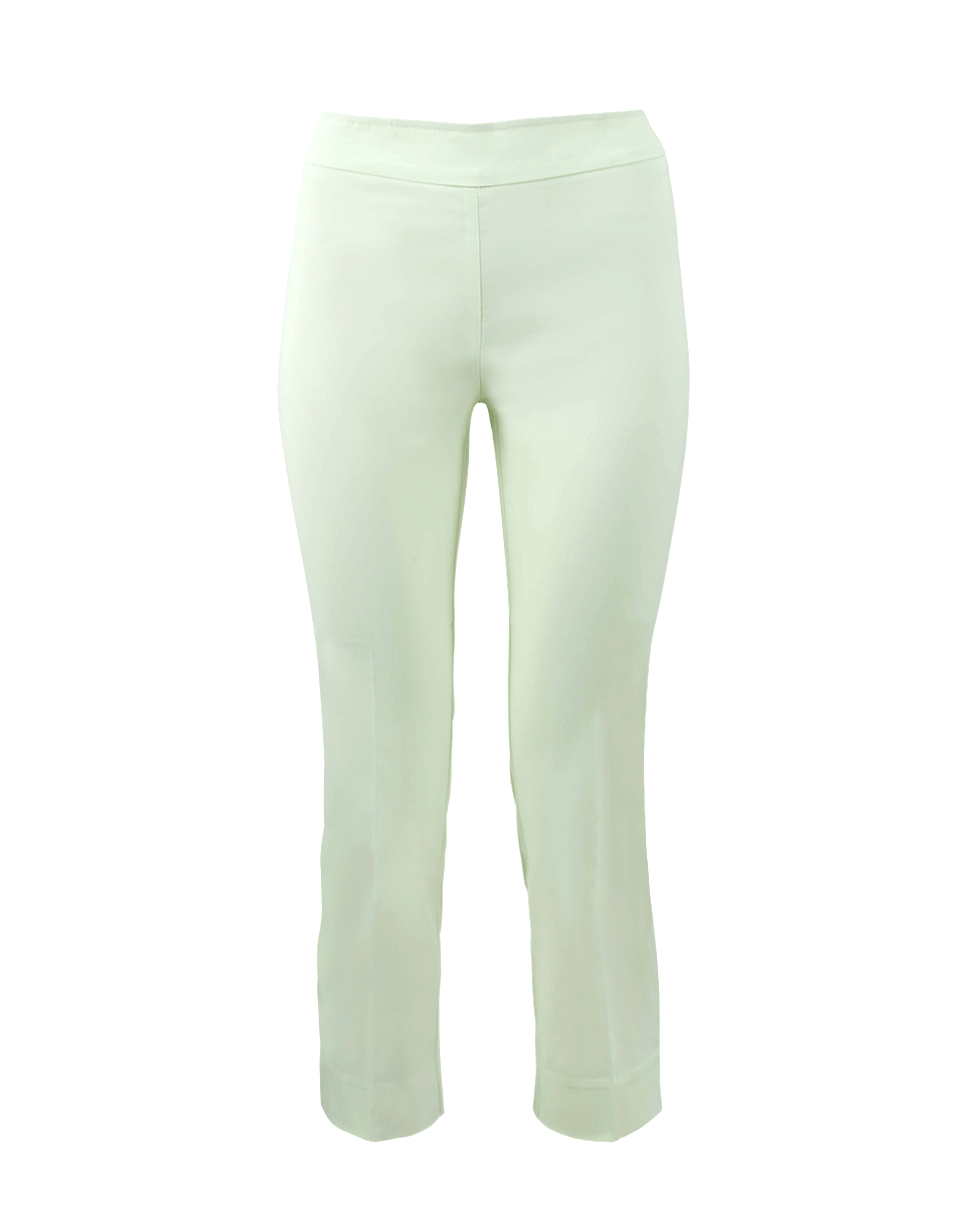 Avenue Montaigne Milan Pull-On Cropped Pant In Lime
