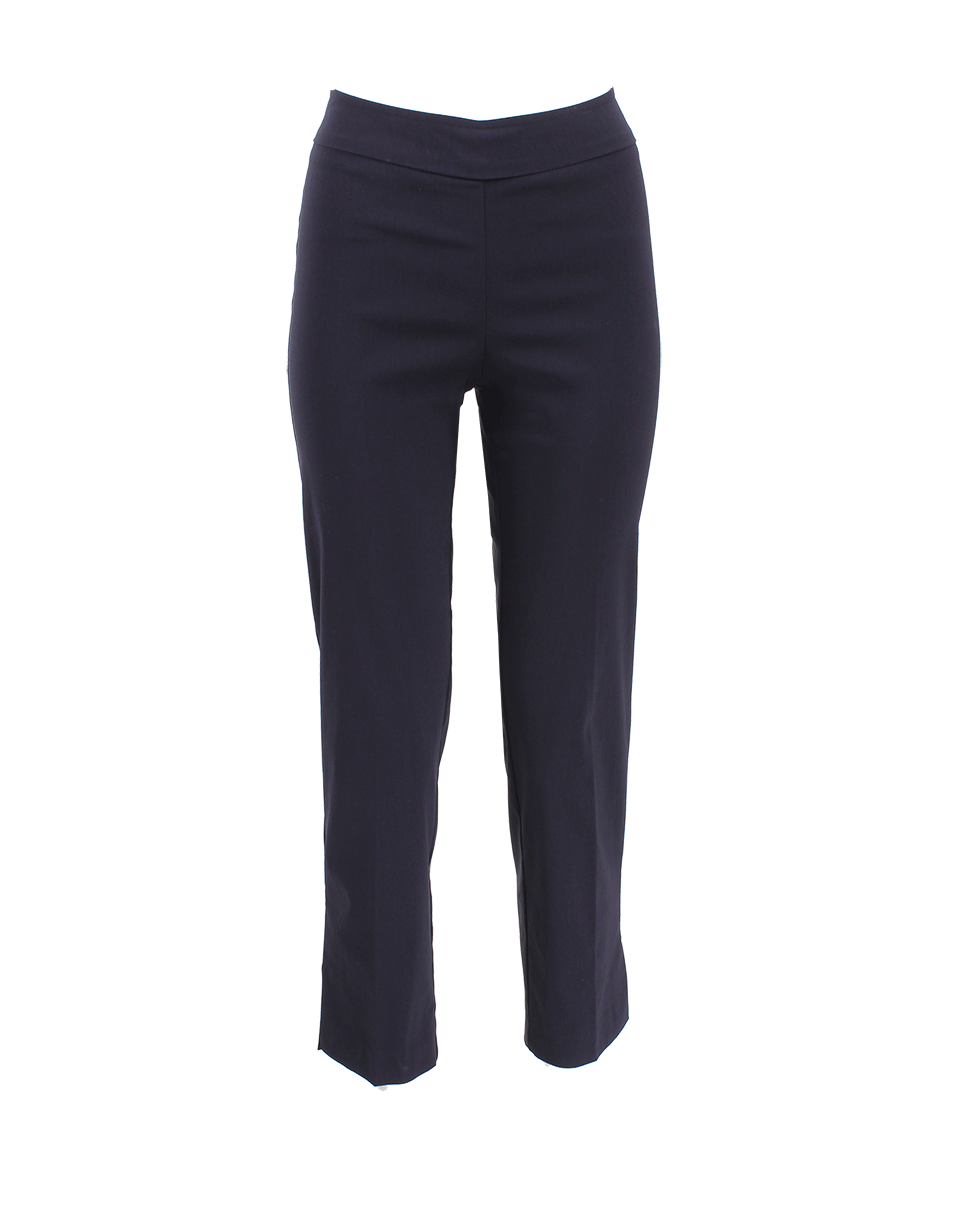 Avenue Montaigne Venezia Pull-On Ankle Slit Pant In Navy