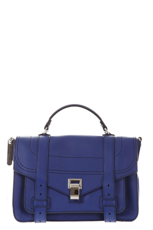Proenza Schouler Ps1 Medium Leather Bag In Lapis