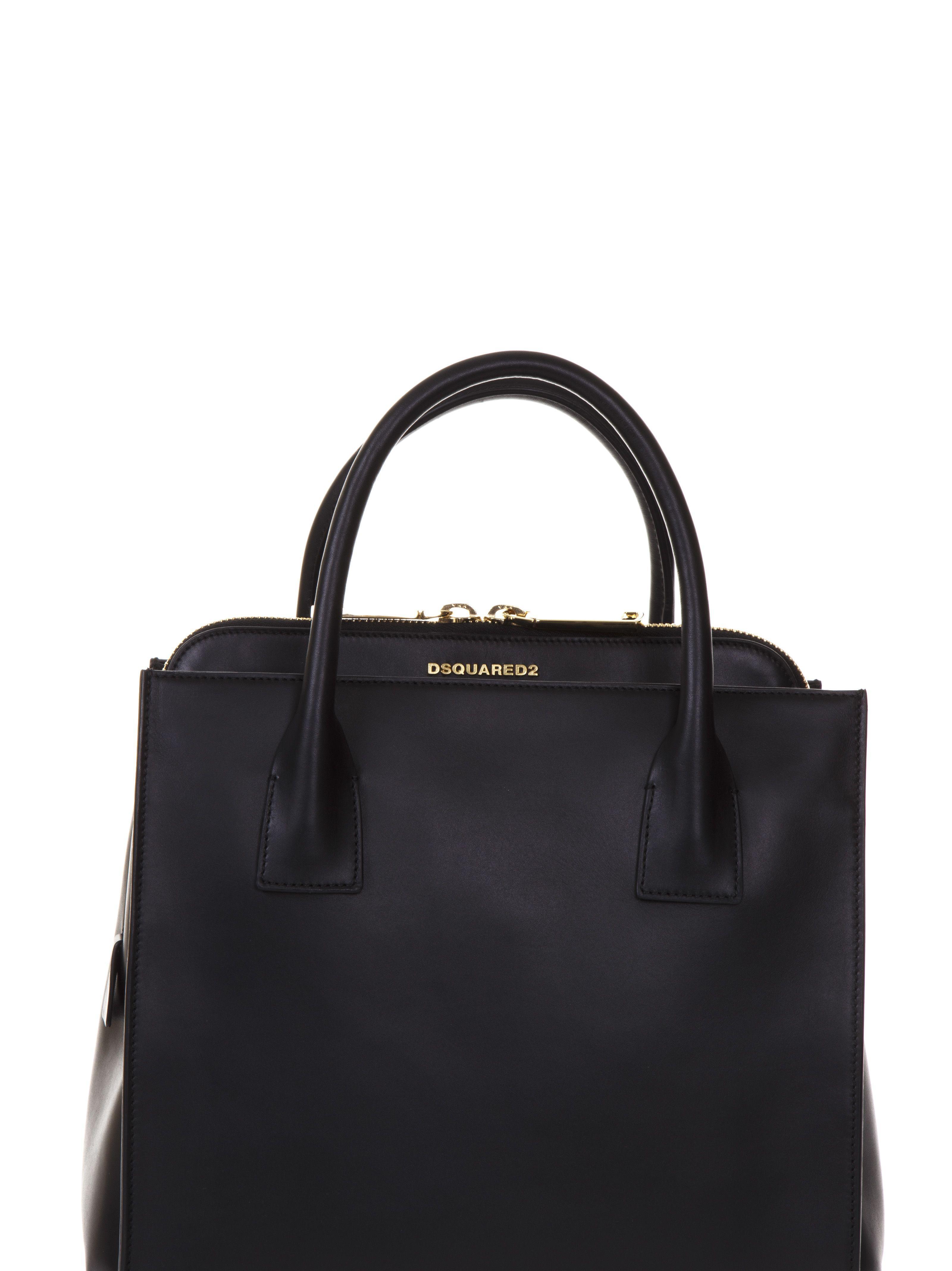 Dsquared2 Leather Deana Handbag In Black