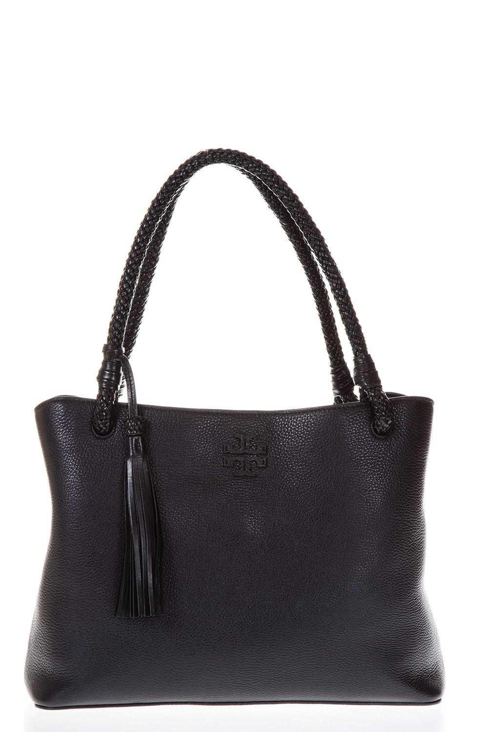 Tory Burch Taylor Triple Leather Tote In Black