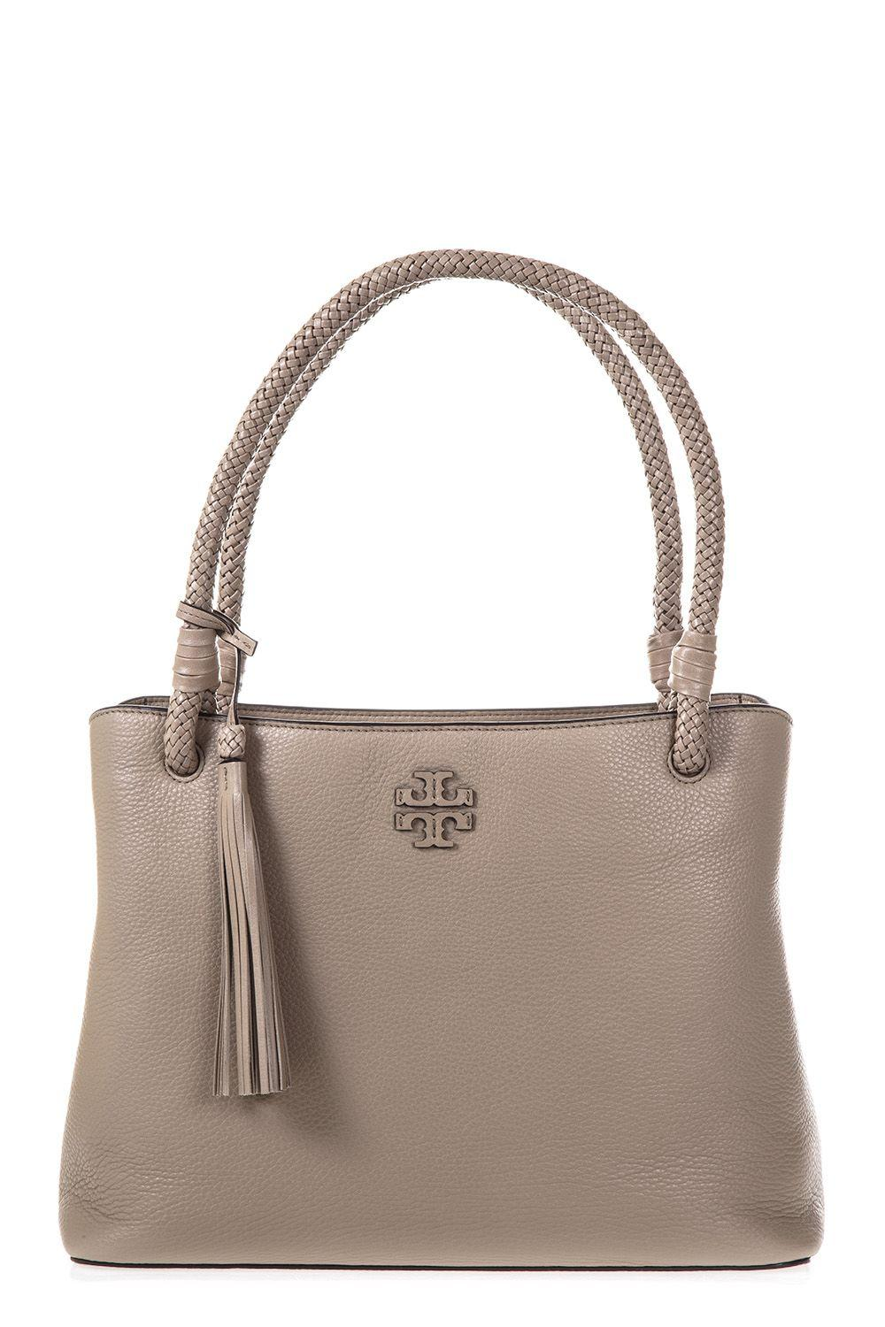 Tory Burch Taylor Triple Leather Tote In Soft Clay