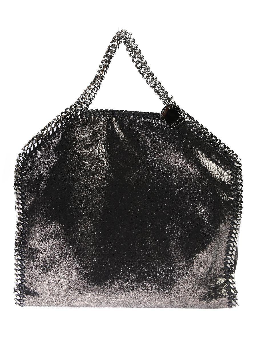 Stella Mccartney Faux Leather Falabella Tote In Metallic