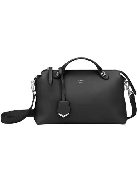 Fendi 'Medium By The Way' Convertible Leather Shoulder Bag - Black