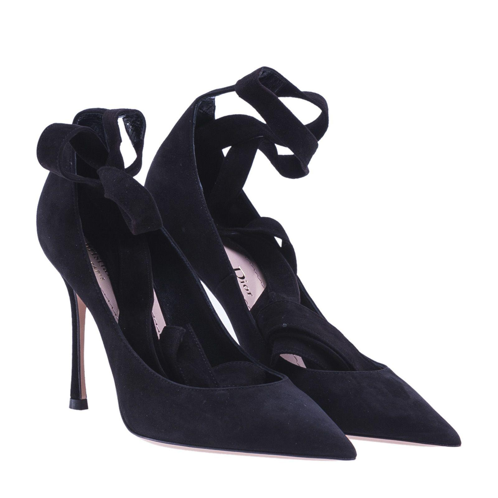 Dior Lace-Up Pumps In Black
