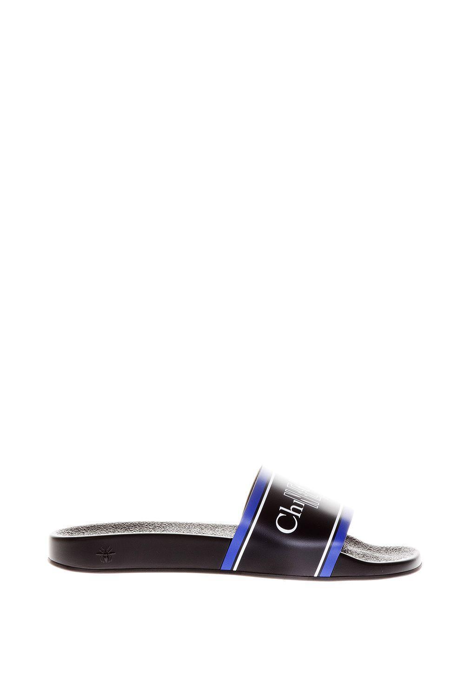 Dior Homme Newave Rubber Slides In Black/Blu