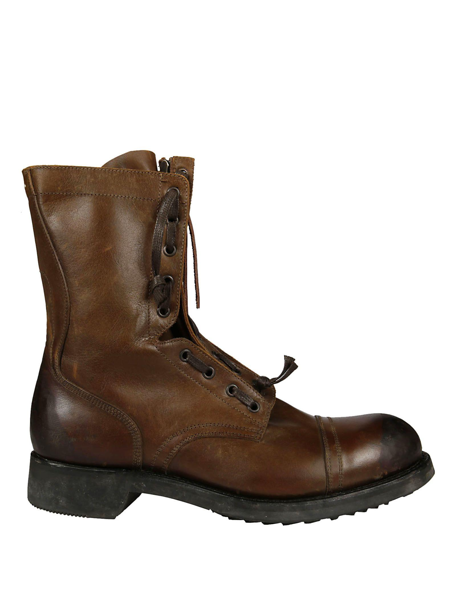Maison Margiela Classic Boots In Brown