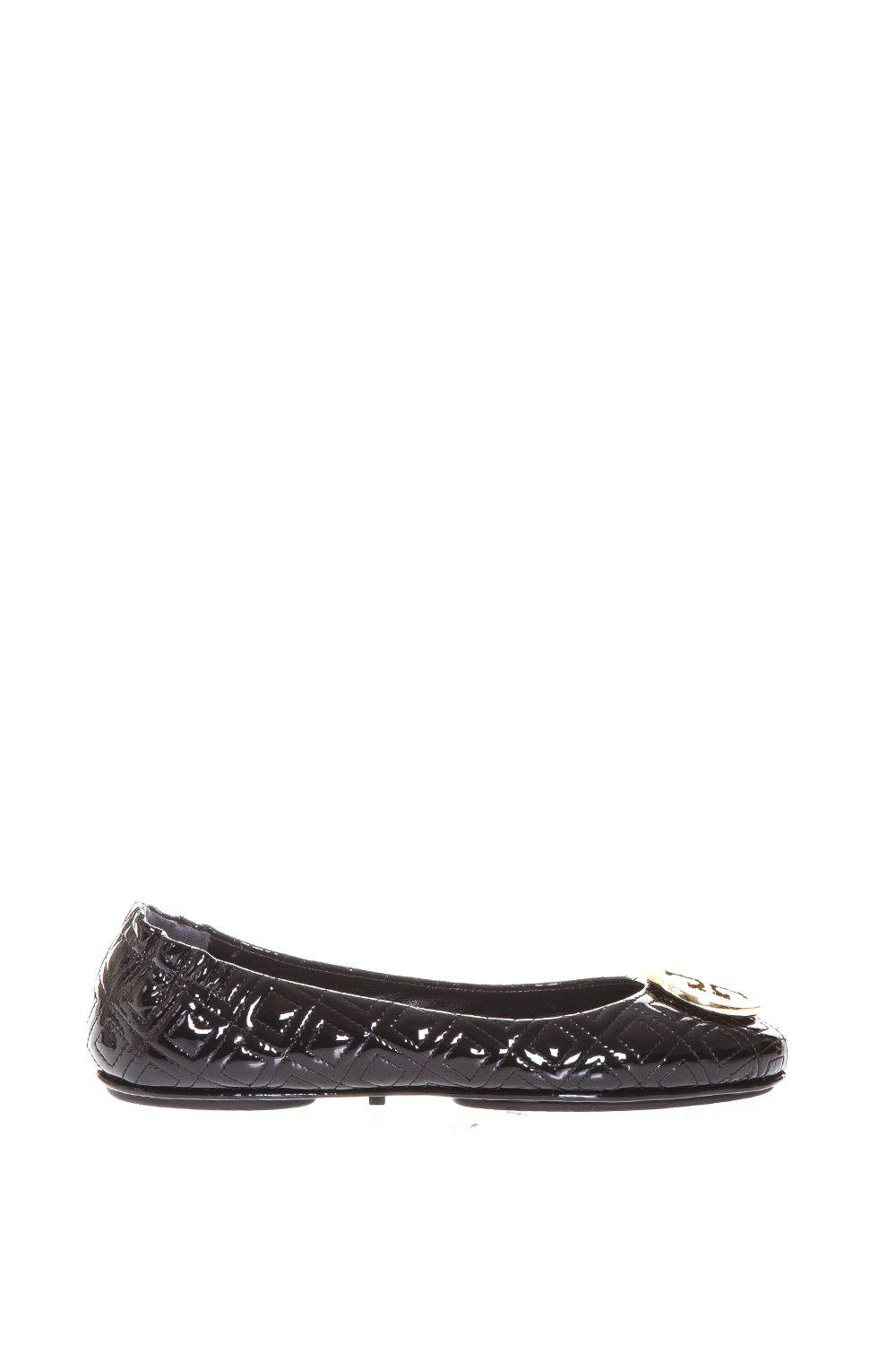 Tory Burch Minnie Travel Ballet Flat In Quilted Leather In Black-Gold