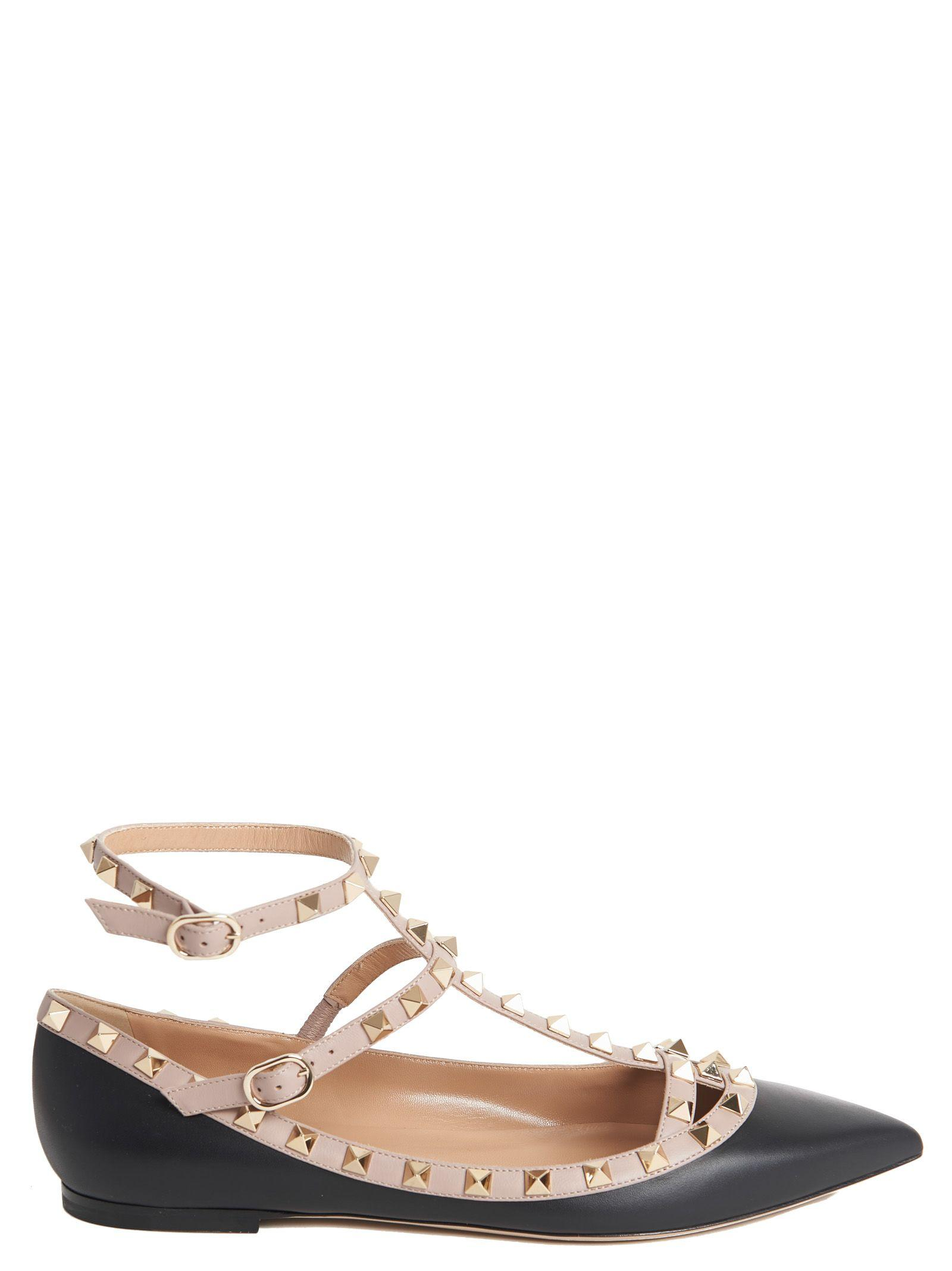 Valentino Flat In Black
