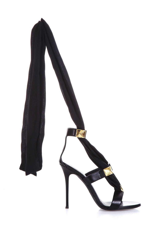 Giuseppe Zanotti Leather Sandals In Black