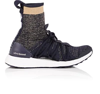 Adidas By Stella Mccartney Ultraboost Tall Lace-Up Sock Sneaker In Legblu/Blkwhi/Ftwwht