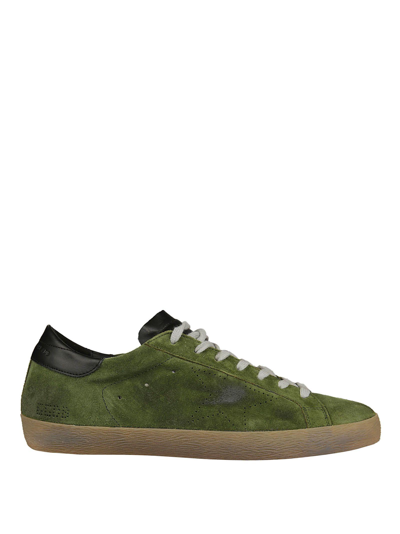 Golden Goose Superstar Sneakers In Green