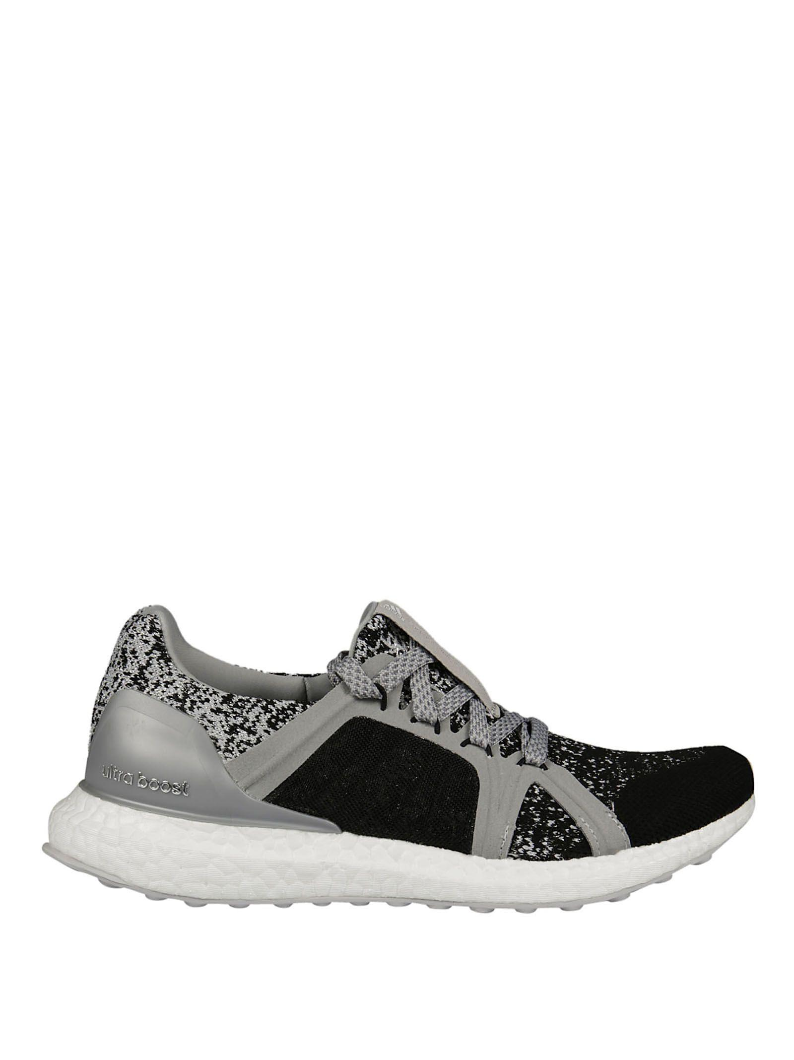 Adidas By Stella Mccartney Black Silver Ultraboost Low Sneakers In Black-Silver