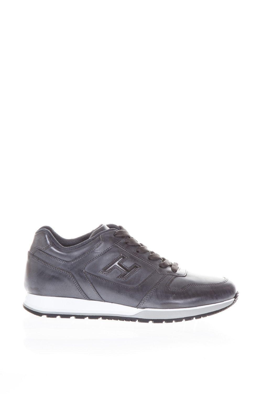 Hogan Leather Sneakers H321 In Dark Grey