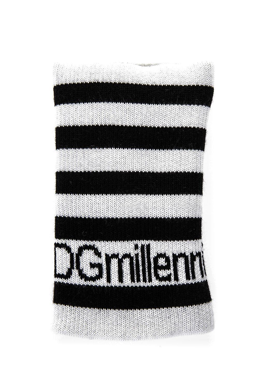 Dolce & Gabbana #Dgmillenials Knitted Sweatband In White-Black