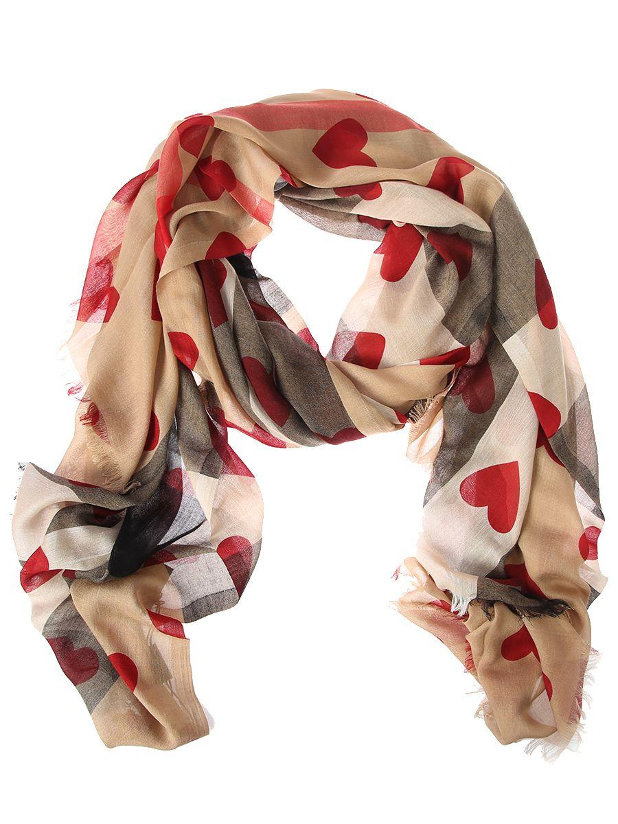 Burberry Modal And Cashmere Printed Hearts Scarf In Multi