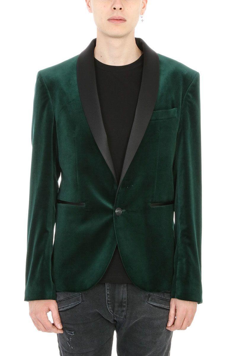 Pierre Balmain Green Velvet Blazer