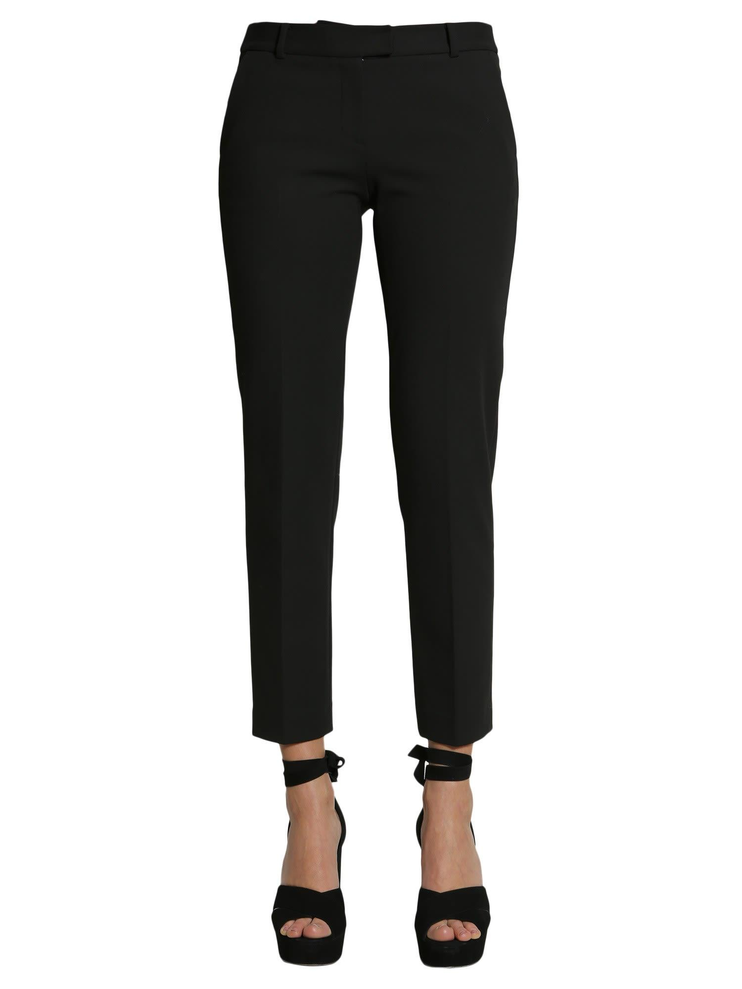 Michael Michael Kors Cropped Trousers In Nero