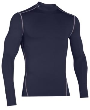 Under Armour Men's Coldgear Mock Neck Long-Sleeve T-Shirt In Midnight Navy