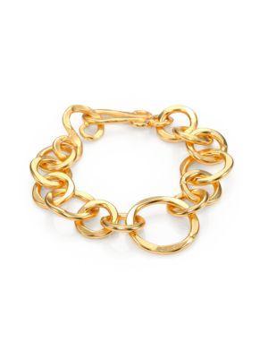 Stephanie Kantis Coronation Large Chain Link Bracelet In Gold