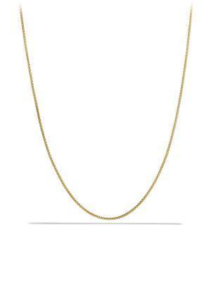 David Yurman Baby Box Chain Necklace In Gold