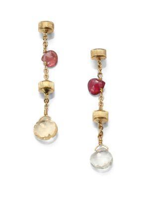 Marco Bicego Paradise Semi-Precious Multi-Stone & 18K Yellow Gold Drop Earrings