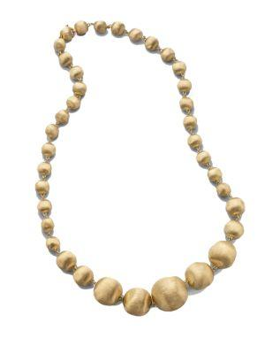 Marco Bicego Africa 18K Yellow Gold Graduated Ball Necklace