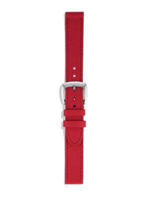 David Yurman Albion Leather Watch Strap In Pink In Red