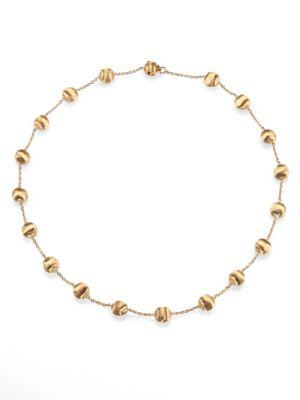 Marco Bicego Africa 18K Yellow Gold Ball Station Necklace
