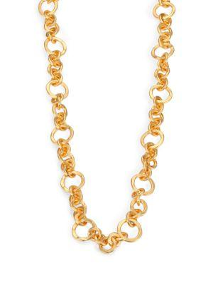 """Stephanie Kantis Coronation Small Chain Necklace/42"""" In Gold"""