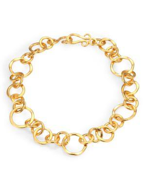 """Stephanie Kantis Coronation Large Chain Necklace/18"""" In Gold"""