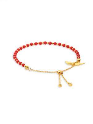 Astley Clarke Biography Sea Bamboo Moth Kula Bracelet In Red