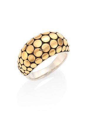 John Hardy Dot 18K Yellow Gold & Sterling Silver Ring
