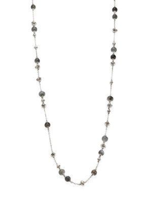 John Hardy Bamboo Grey Moonstone & Sterling Silver Sautoir Necklace