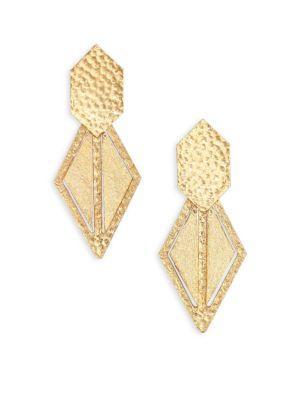 Stephanie Kantis Momentum Geometric Drop Earrings In Gold