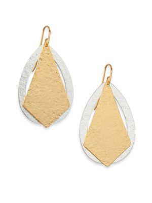 Stephanie Kantis Paris Deco Kite & Teardrop Earrings In Gold