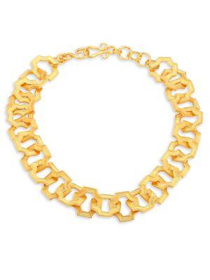 Stephanie Kantis Russet Link Necklace In Yellow