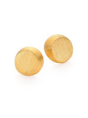 Stephanie Kantis Half Moon Stud Earrings In Gold