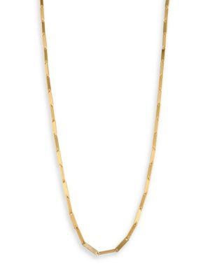 Stephanie Kantis Woodlands Link Long Necklace In Gold