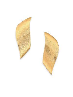 Stephanie Kantis Flame Earrings In Gold