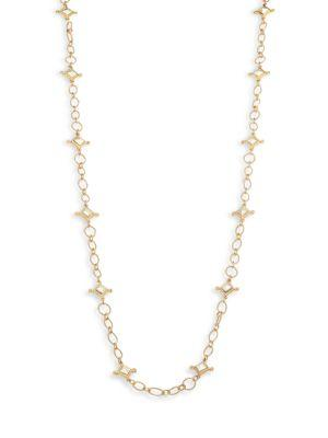 Stephanie Kantis Venetian Two-Tone Chain Station Necklace In Gold