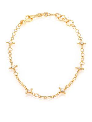 Stephanie Kantis Venetian Two-Tone Link Necklace In Gold