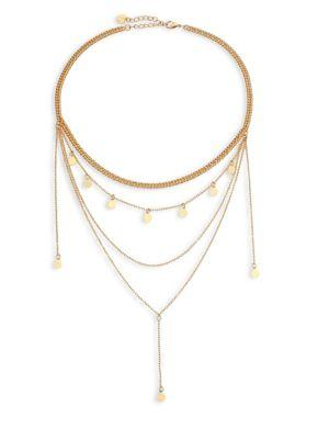 Jules Smith Layered Chain Necklace In Gold