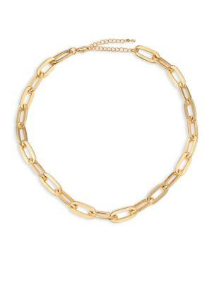 Jules Smith Oversized Cable Link Necklace In Gold