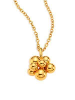 Marina B Mini Atomo 18K Gold Pendant Necklace