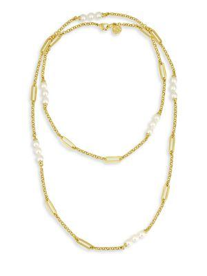 Majorica Modern 6Mm Organic Pearl Necklace In Gold